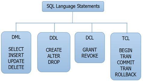 types  sql statements  examples