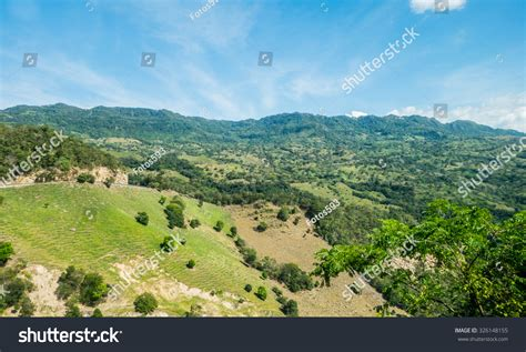green valley landscape beautiful green valley landscape near the town of honda colombia 写真素材 326148155
