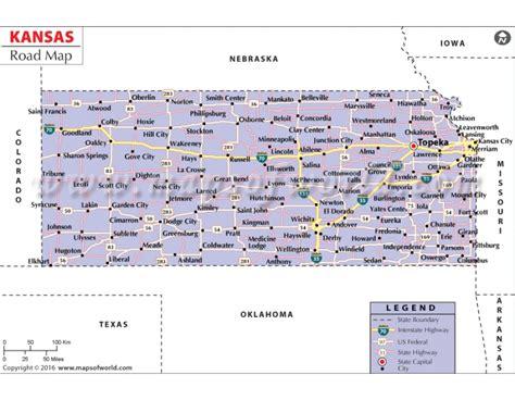 kansas state map usa buy kansas road map