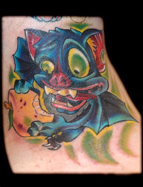 tattoo animal new school fruit bat tattoos