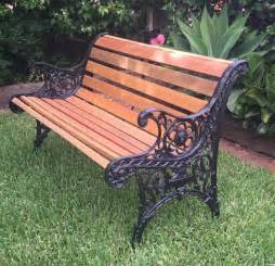 Patio Australia Cast Iron Outdoor Garden Bench Seat Park Antique Vintage