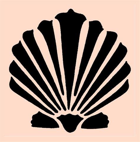 printable seashell stencils stencil clam shell seashell 8x7 8 by artisticstencils on etsy