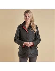 women s barbour women s catherine wax jacket with wedgwood print