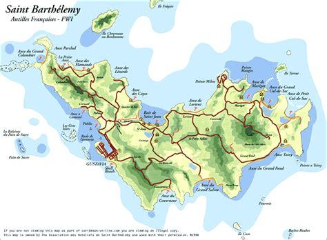 map of st islands st barts island map images
