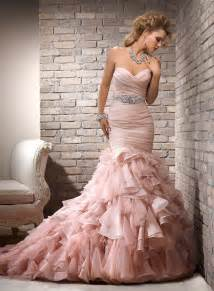 blush wedding dress beautiful bridal blush pink wedding dress