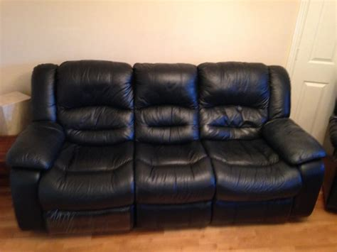 black leather 3 seater recliner 3 seater black leather recliner couch for sale in raheen