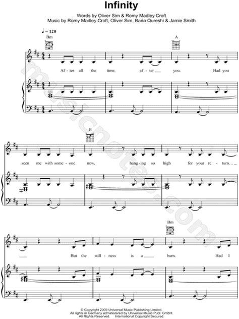 infinity lyrics xx the xx quot infinity quot sheet in b minor