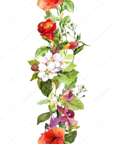 cenefas flores hierbas silvestres flores y mariposas cenefa de flores