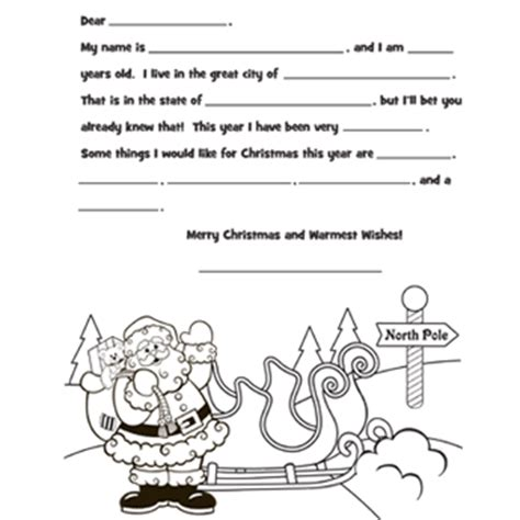 letter to santa template colour in best photos of coloring printable santa letter template