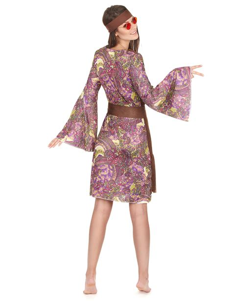 vestito figli dei fiori costume hippie figlia dei fiori per donna