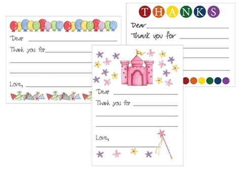 kid card template thank you notes for creative ideas
