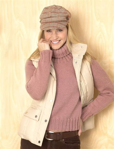 easy knit turtleneck sweater pattern yarnspirations com bernat classic turtleneck patterns