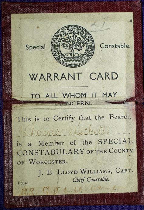 Free Warrant Search Uk File Special Constables Warrant Card 5 13200367463 Jpg Wikimedia Commons