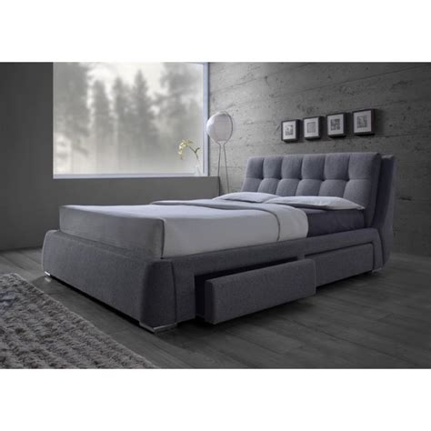 gray upholstered platform bed coaster fenbrook upholstered king platform bed with