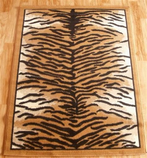 tiger floor rug tiger print area rug 4ft x 6ft other rugs carpets