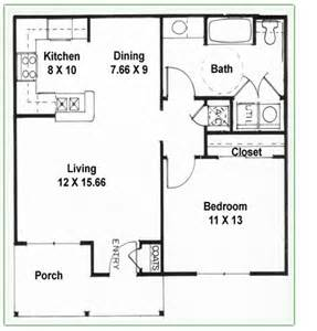 Floor Plan For 1 Bedroom House by 2 Bedroom 1 Bath Floor Plans Single Bedroom Plans