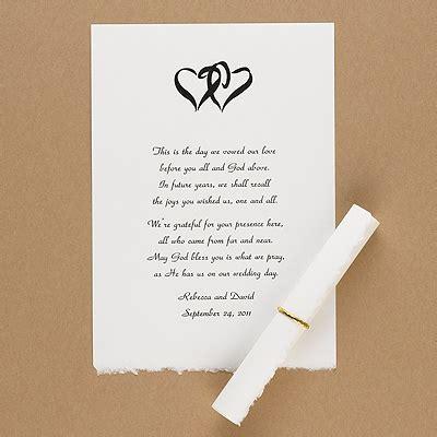 Thank You Scrolls White Vellum Deckle Edge Scrolls Invitations By