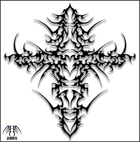 cross tattoos with tribal designs tribal cross designs wallpaperpool