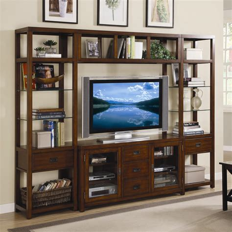 furniture danforth open entertainment wall unit
