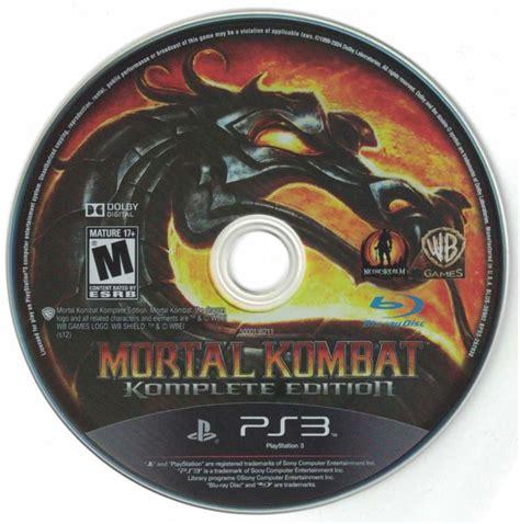 Mortal Kombat Komplete Edition Ps3 mortal kombat komplete edition 2012 playstation 3 box cover mobygames