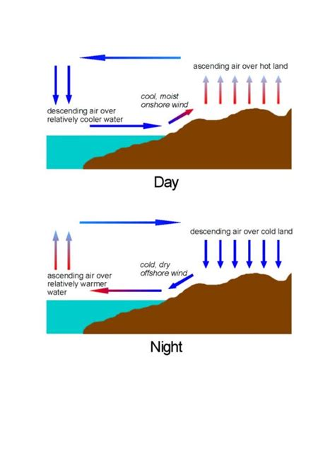 diagram of sea and land 16 best images about land and sea breezes on