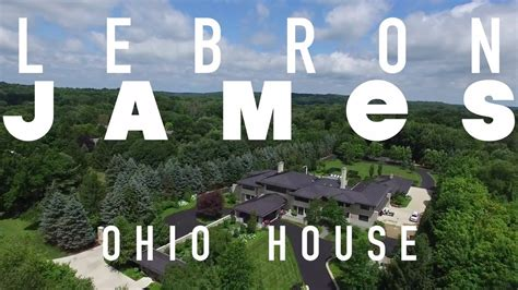 lebron james house in ohio lebron james house in akron ohio quot sky view quot youtube