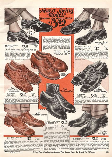 history of mens shoes of 1920s and 1930s