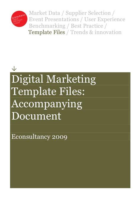 Read First Econsultancy Digital Marketing Template Files Digital Marketing Study Template