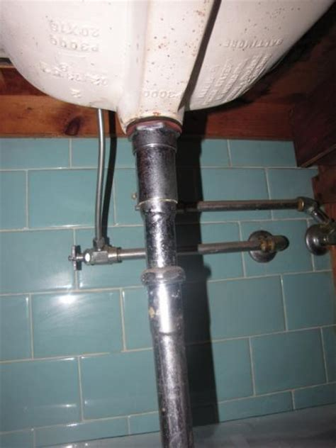 replacing pipes under bathroom sink 1950s bathroom plumbing replacing sink doityourself