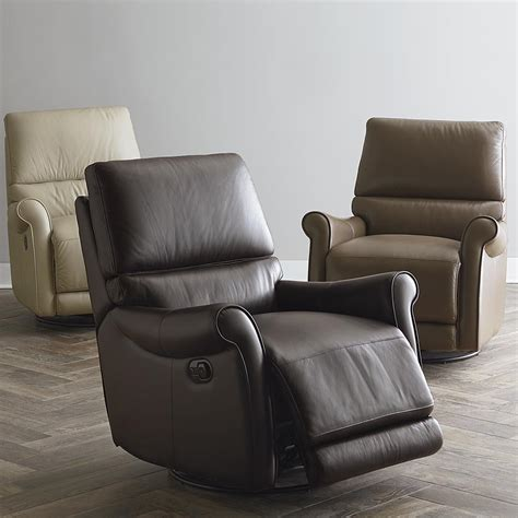 Leather Swivel Chair Recliner - swivel glider recliner black barrington