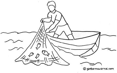 gambar mewarnai nelayan gambar mewarnai