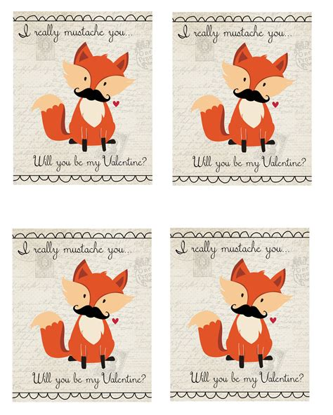 s day what does the say fox mustache s day printable dweeb