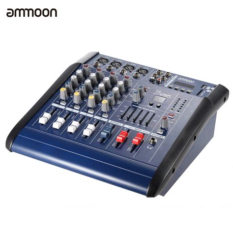 Mixer China 4 Channel ammoon 4 channel digtal mic line audio mixing console