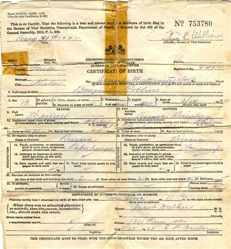 Ny Vital Records Birth Certificate New York Certificate Form Blusuk