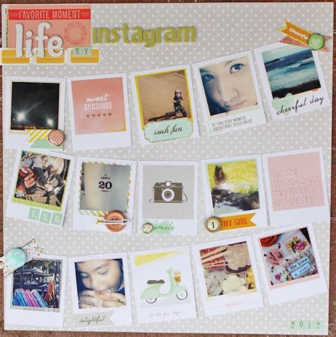 Instagram Scrapbook Layout | 17 best images about instagram scrapbook layouts on