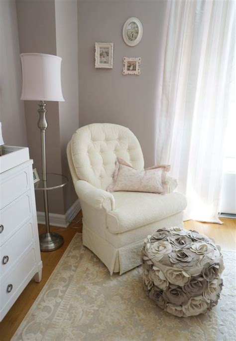 ottoman for baby room pink ivory and grey twin girls nursery pouf ottoman