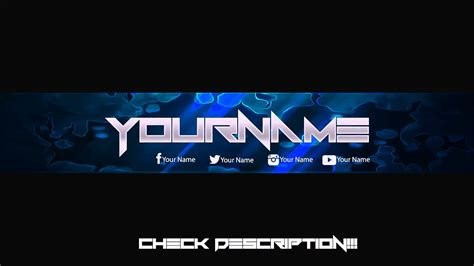 youtube banner template psd cyberuse