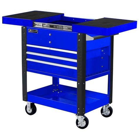 top service homak professional 35 in 4 drawer slide top service utility cart in blue bl06043500