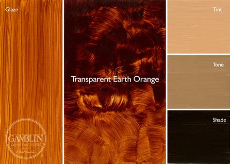 earthy orange old masters palette gamblin artists colors