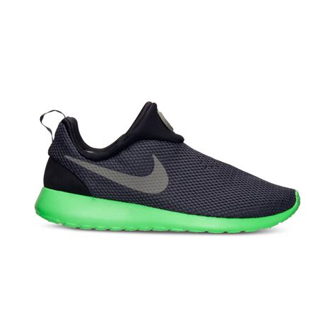 sneakers with mens lyst nike mens roshe run slip on casual sneakers from