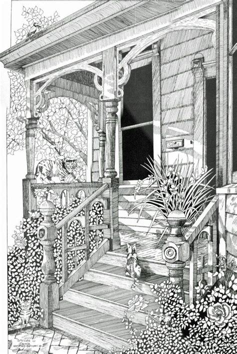 coloring pages for adults houses coloring for adults kleuren voor volwassenen maisons