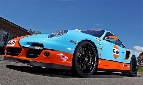 gulf racing gulf racing livery by shaft for the porsche 911 turbo