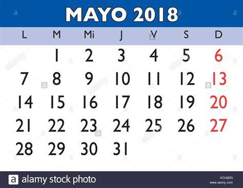 Calendario 2018 Mayo May Month In A Year 2018 Wall Calendar In Mayo