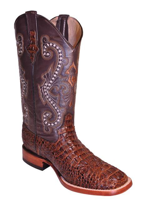 s ferrini boots mens ferrini brown sport rust caiman crocodile print s toe