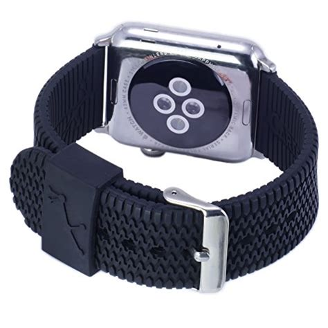 Durable Silicon Band Apple Iwatch apple band black rubber tire tread iwatch band 42mm sport silicone straps with durable