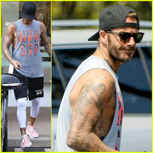 david beckham neck tattoo david beckham s shows his new neck