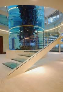Fancy Bathtubs Amazing Staircase With Large Cylinder Aquarium By Diapo