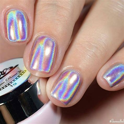imagenes de uñas gelish decoradas efecto unicornio holo original u 241 as gelish env 237 o gratis