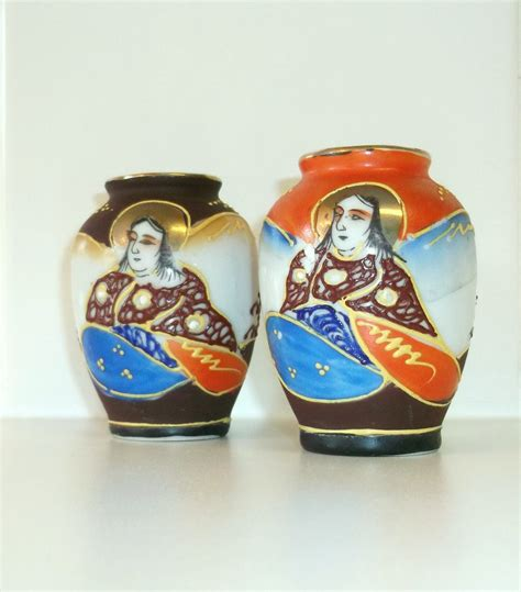 vintage japanese miniature vases made in occupied japan set