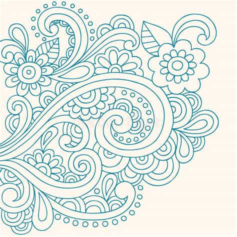 free vector doodle swirls doodle henna abstract flowers and swirls vector stock